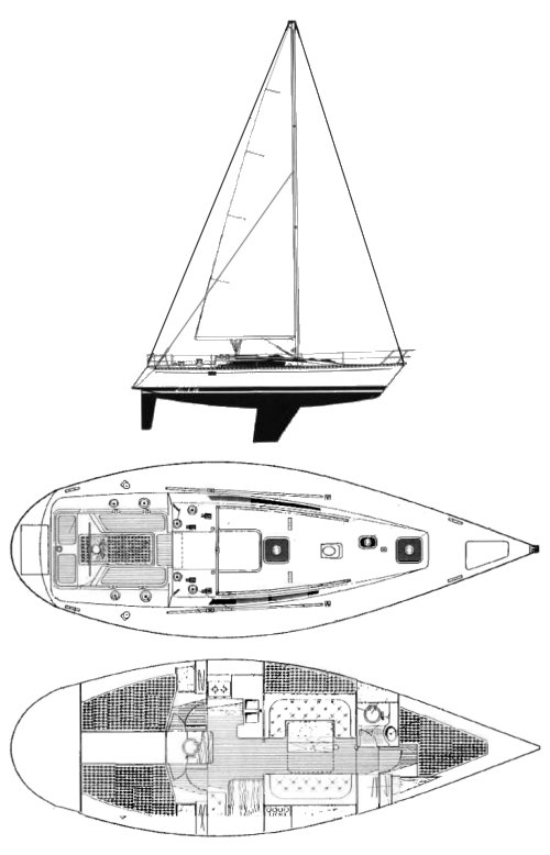 FIRST 38 (BENETEAU) drawing