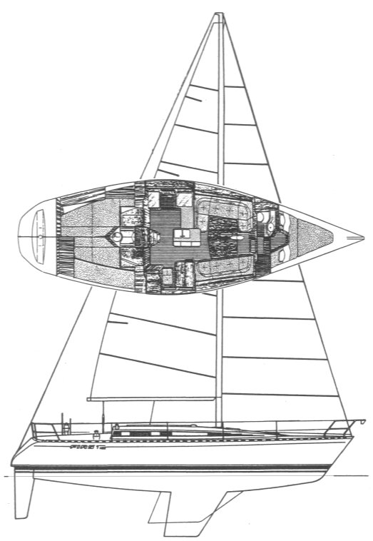 First 405 drawing on sailboatdata.com