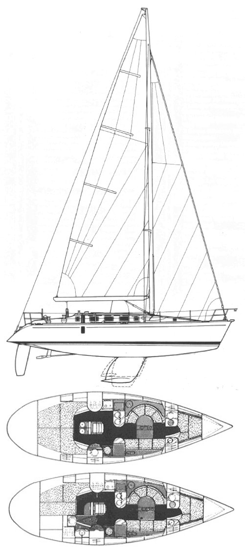 First 41s5 (Beneteau) drawing on sailboatdata.com
