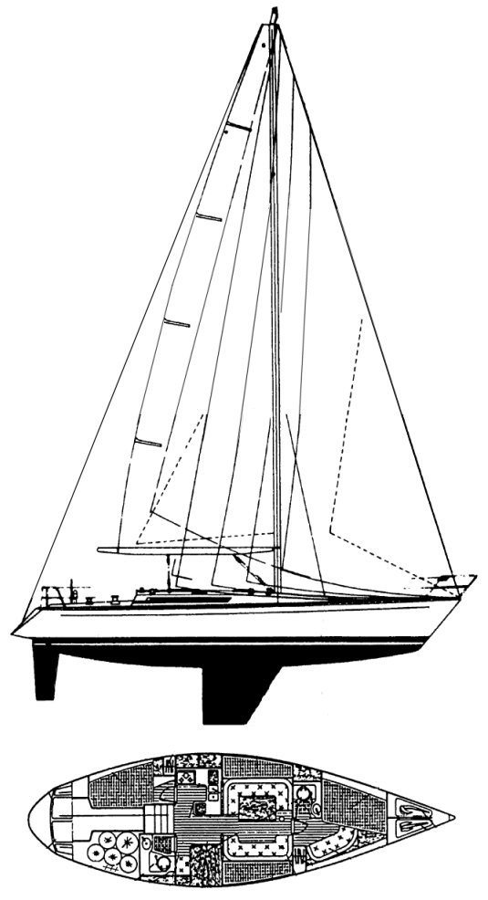 FIRST 42 (BENETEAU) drawing
