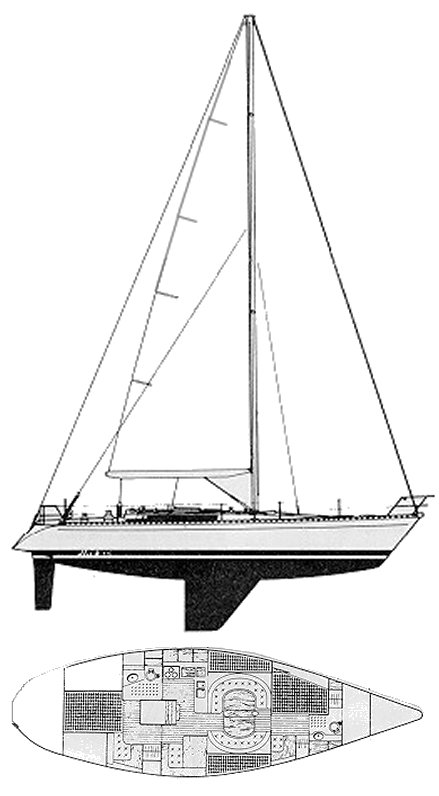FIRST 456 (BENETEAU) drawing