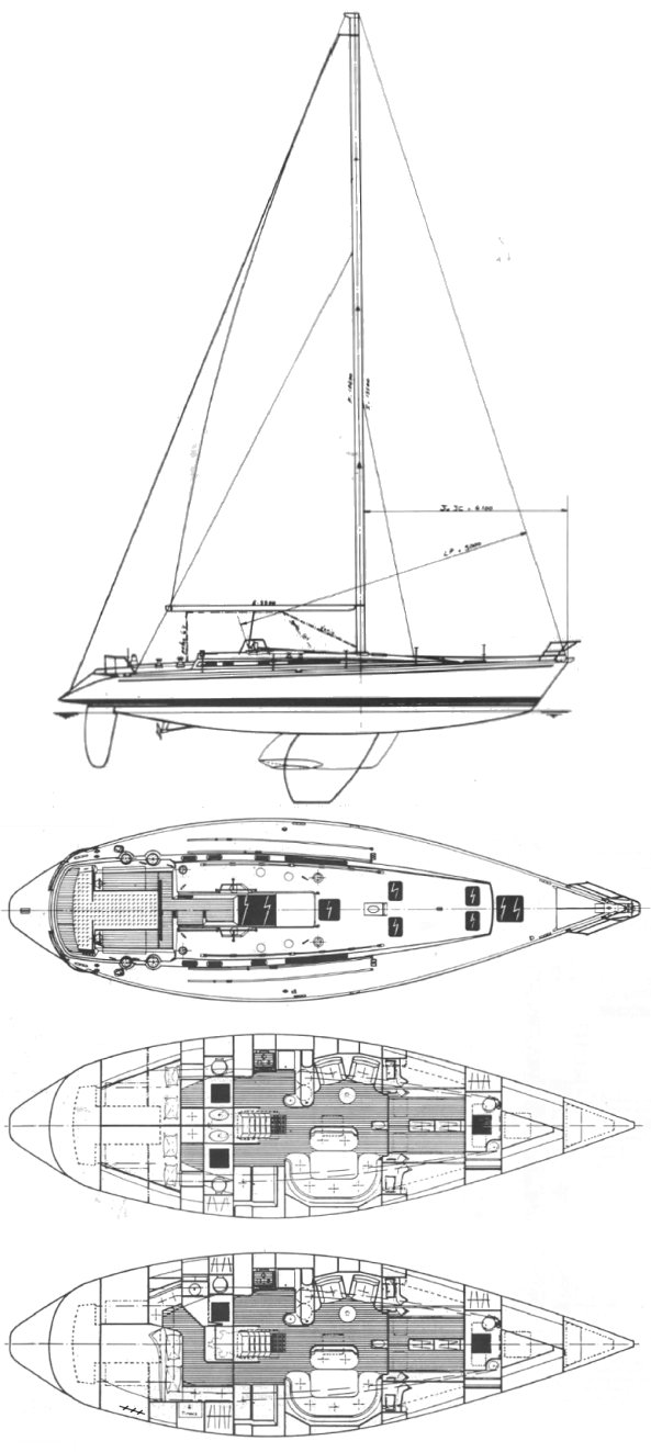 FIRST 51 (BENETEAU) drawing