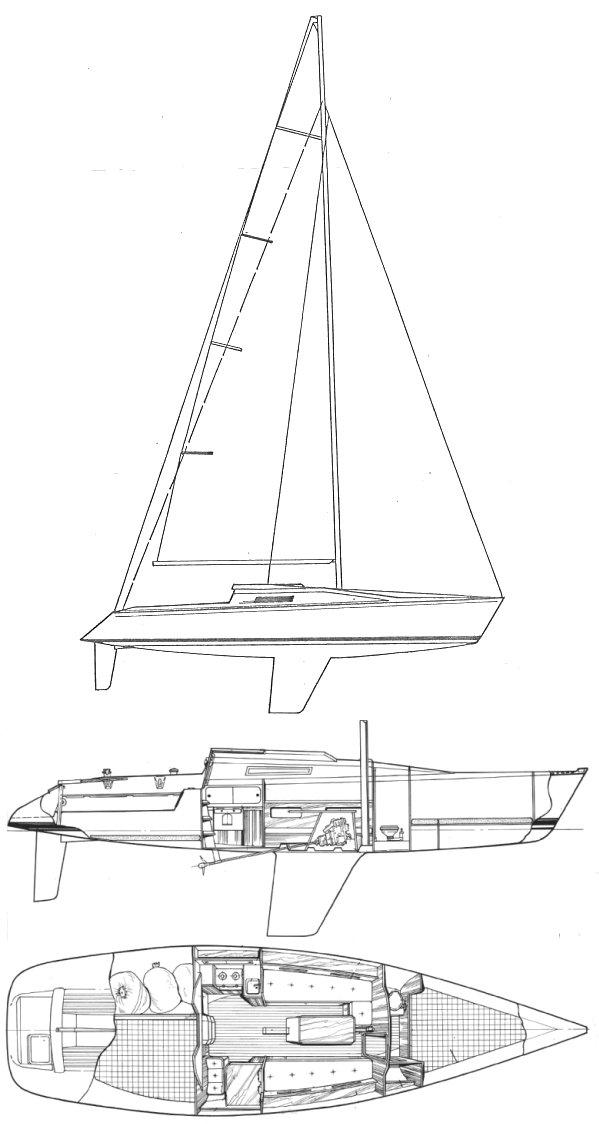 FIRST CLASS 10 (BENETEAU) drawing