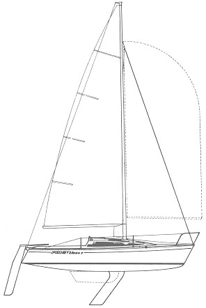 First Class 7 drawing on sailboatdata.com