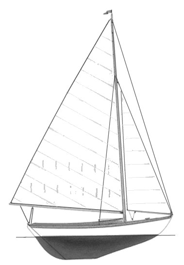 Fish Class (Herreshoff) drawing on sailboatdata.com