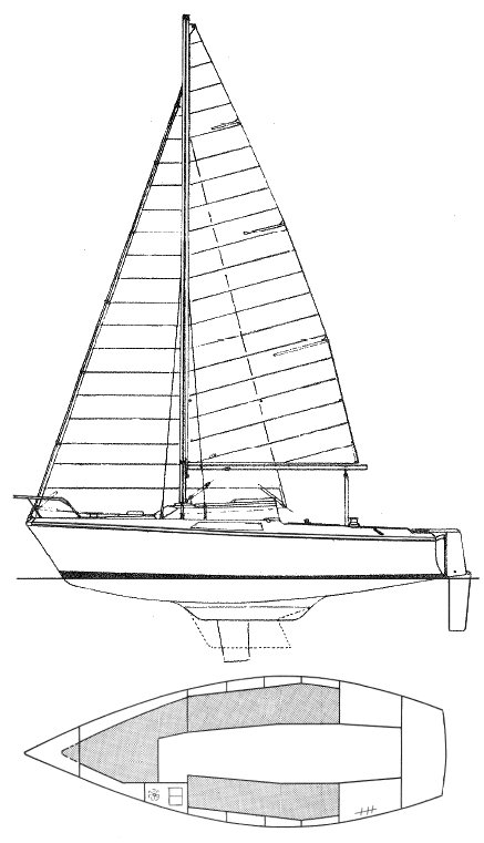 Flirt (Jeanneau) drawing on sailboatdata.com
