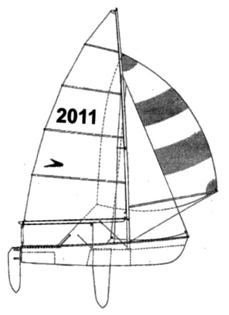 Flying Eleven drawing on sailboatdata.com