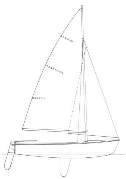 Flying Junior Drawing on sailboatdata.com