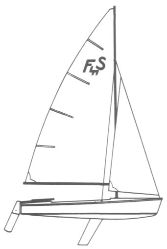 Flying Scot drawing on sailboatdata.com