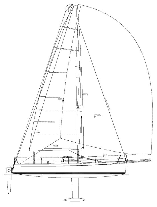 Flying Tiger 10m drawing on sailboatdata.com