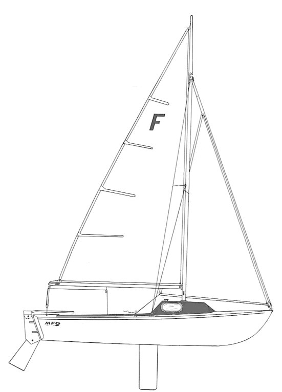 Ford 20 drawing on sailboatdata.com
