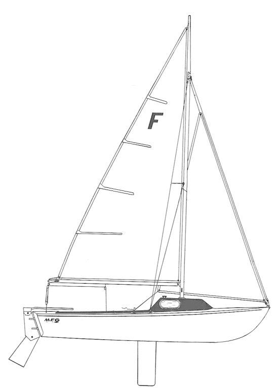 Ford 20 drawing on sailboatdata.com