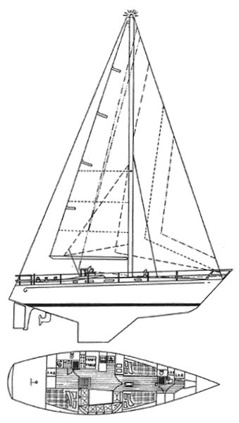 Formosa 43 drawing on sailboatdata.com