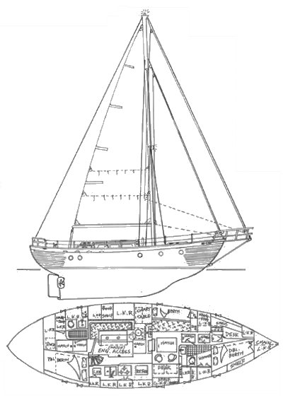 Formosa 44 drawing on sailboatdata.com