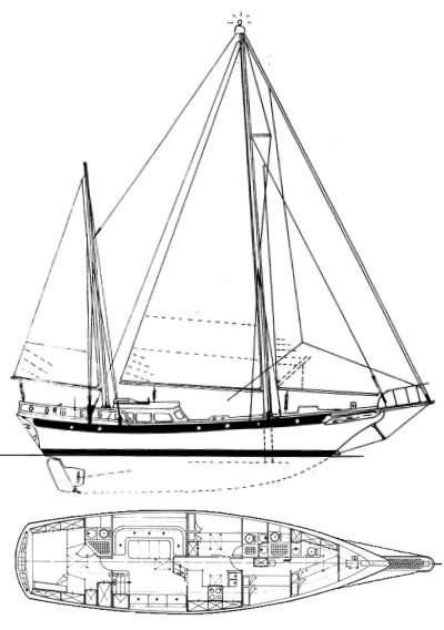 Formosa 51 sailboat details on units metric for William garden sailboat designs