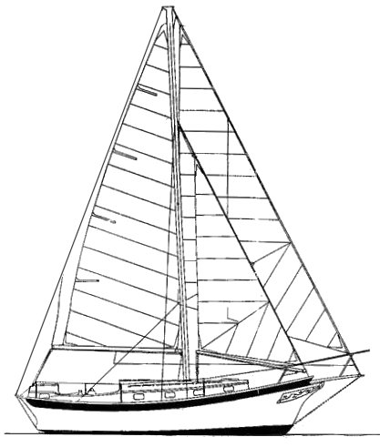 Fortune 30 drawing on sailboatdata.com