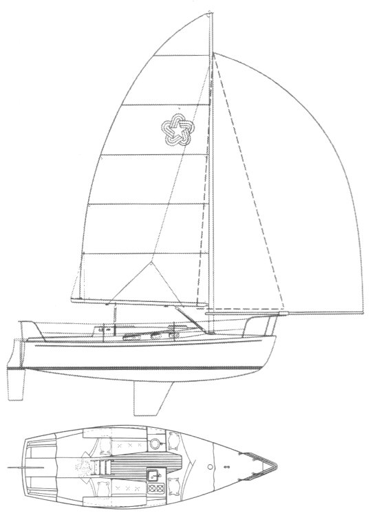 Freedom 25 drawing on sailboatdata.com
