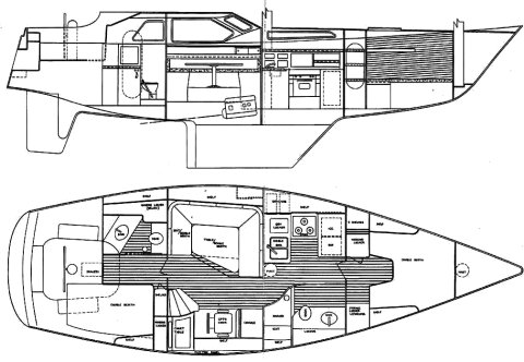 FREEDOM 39 PILOT HOUSE drawing