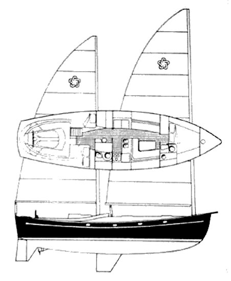 FREEDOM 44 (CAT KETCH) drawing