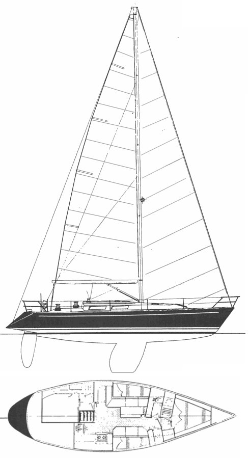 Frers 41 drawing on sailboatdata.com