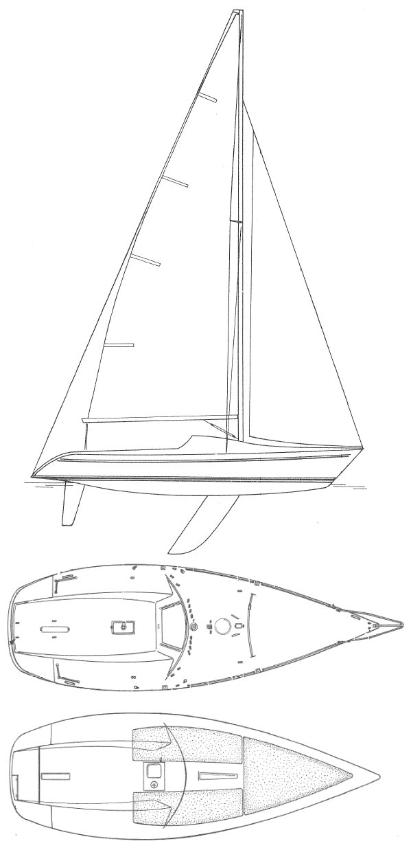 Fun 23 drawing on sailboatdata.com
