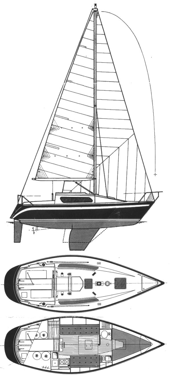 Furia 26 drawing on sailboatdata.com