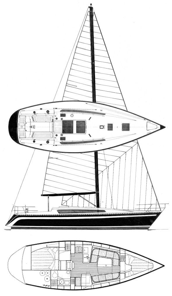 Furia 37 drawing on sailboatdata.com