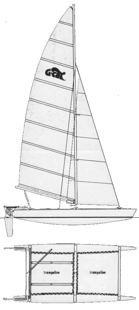 G-Cat 5.0 drawing on sailboatdata.com