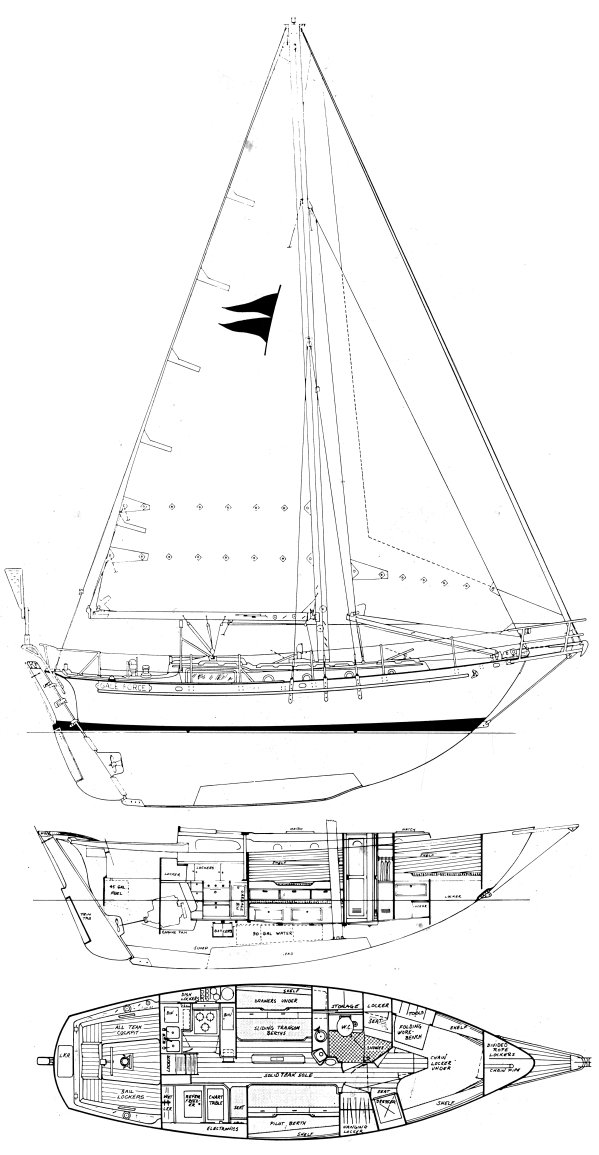 Gale Force 9M drawing on sailboatdata.com