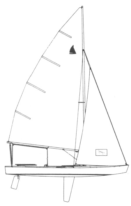 Geary 18 drawing on sailboatdata.com
