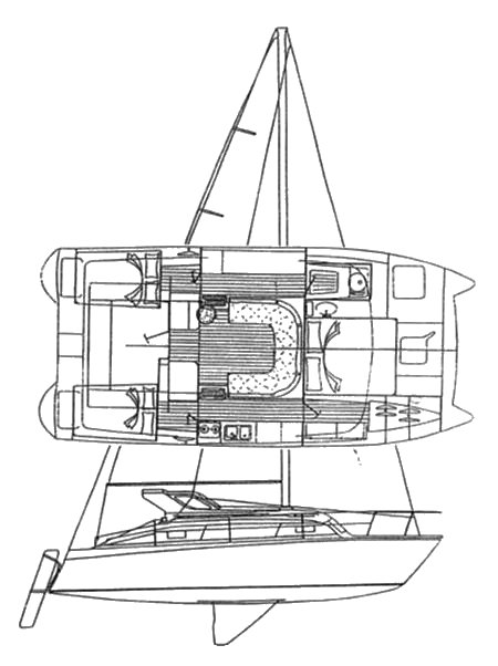 Gemini 3200 drawing on sailboatdata.com
