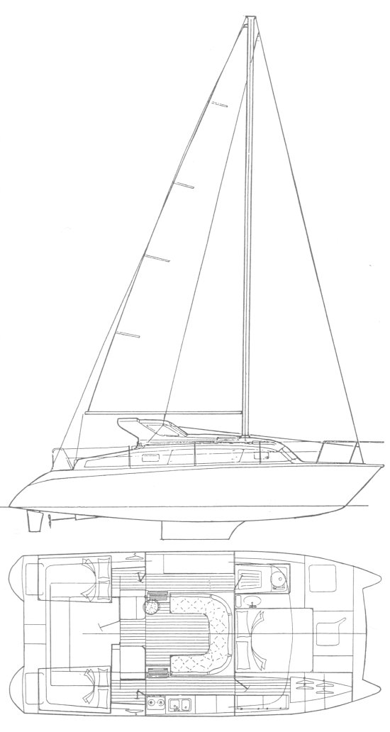 Gemini 3400 drawing on sailboatdata.com