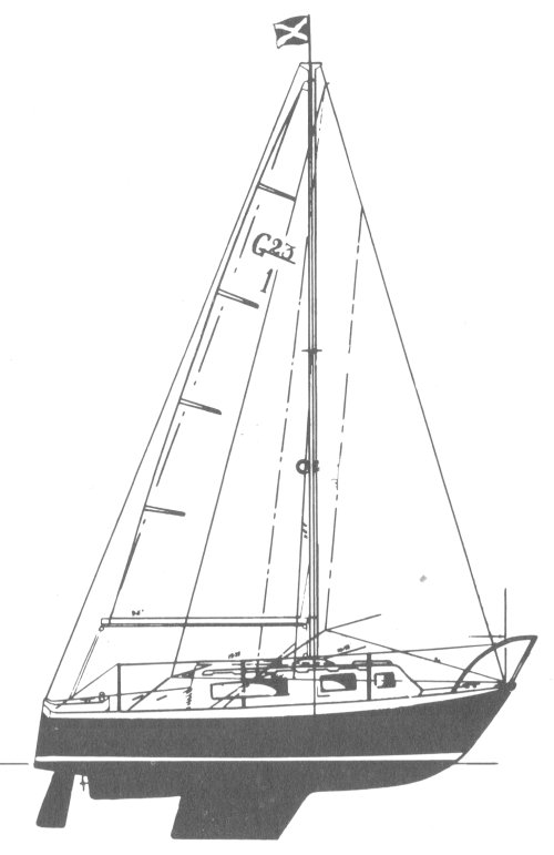 Georgian 23 drawing on sailboatdata.com