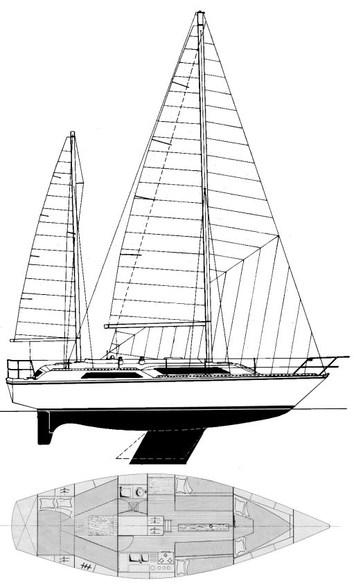 SailboatData  GIB SEA 351 Sailboat