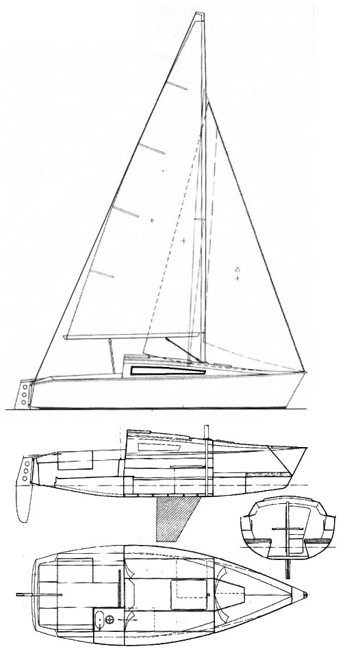 Gib'Sea 68 drawing on sailboatdata.com