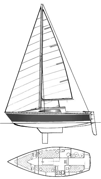 Gib'Sea 77 drawing on sailboatdata.com