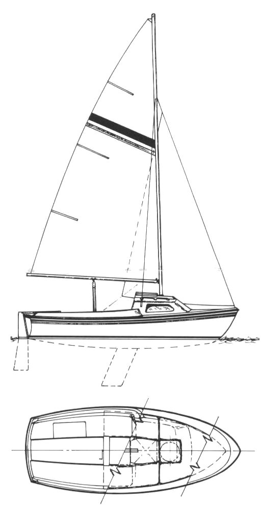 Gloucester 16 drawing on sailboatdata.com