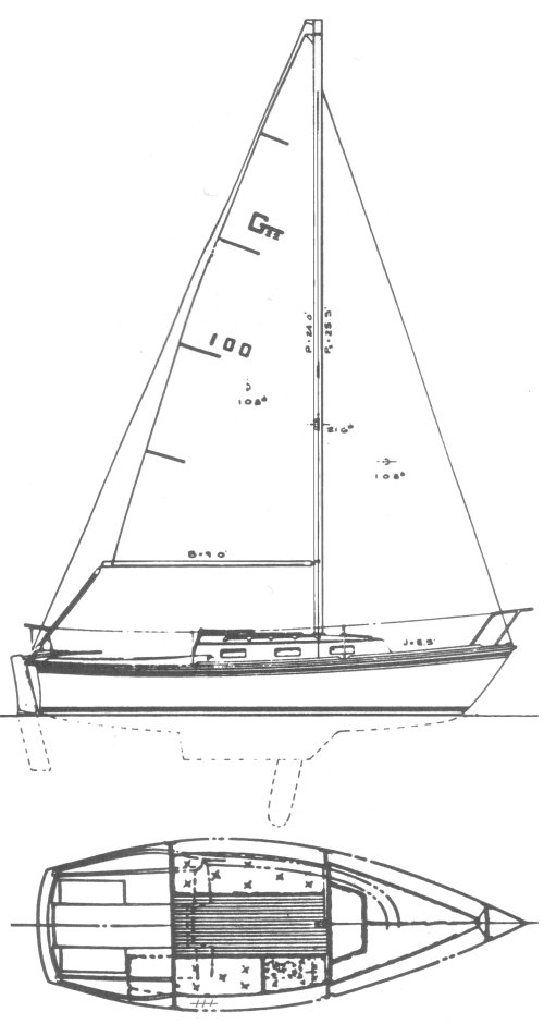Gloucester 22 drawing on sailboatdata.com