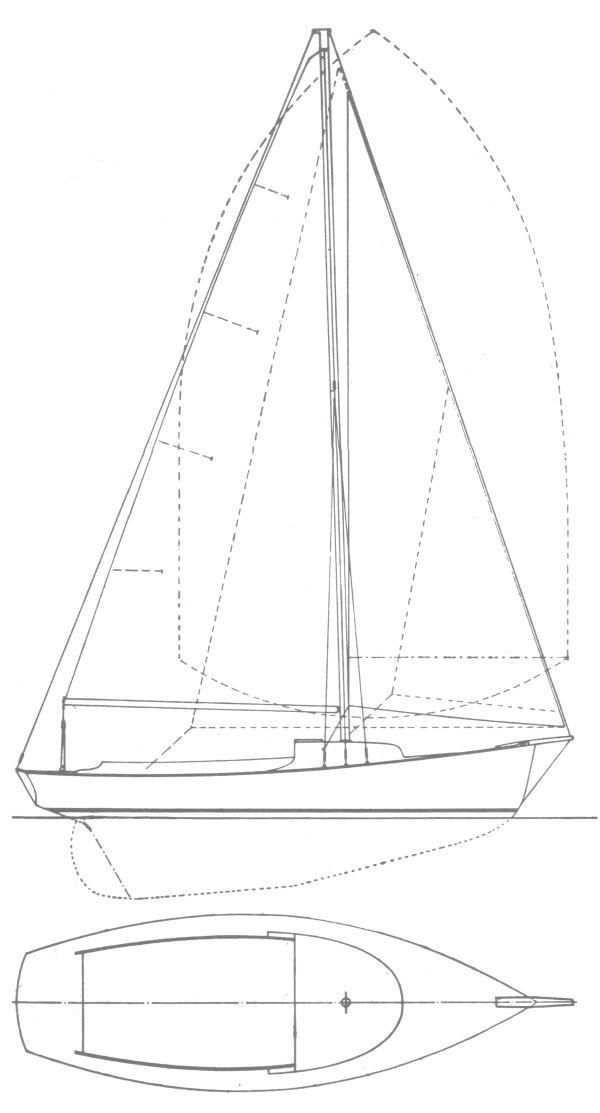 GOLDENEYE (HERRESHOFF) drawing