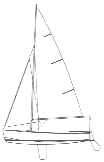 GP 14 drawing on sailboatdata.com