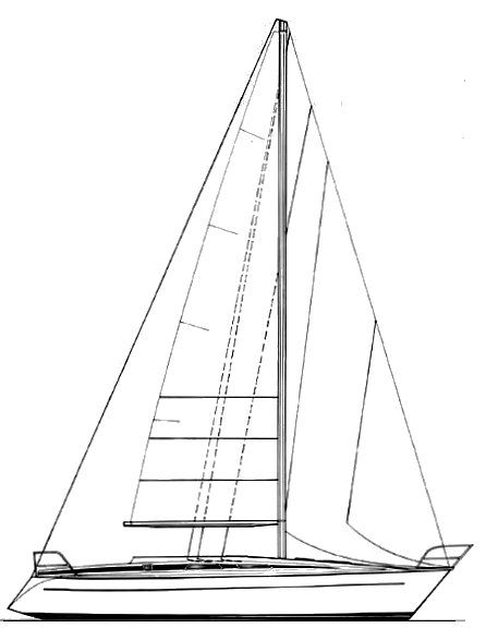 Grand Soleil 35 drawing on sailboatdata.com