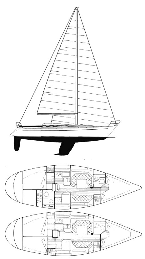 GRAND SOLEIL 38 (FINOT) drawing