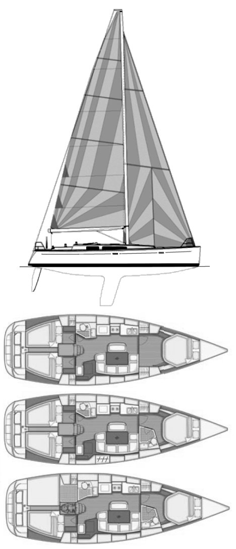 Grand Soleil 40 drawing on sailboatdata.com