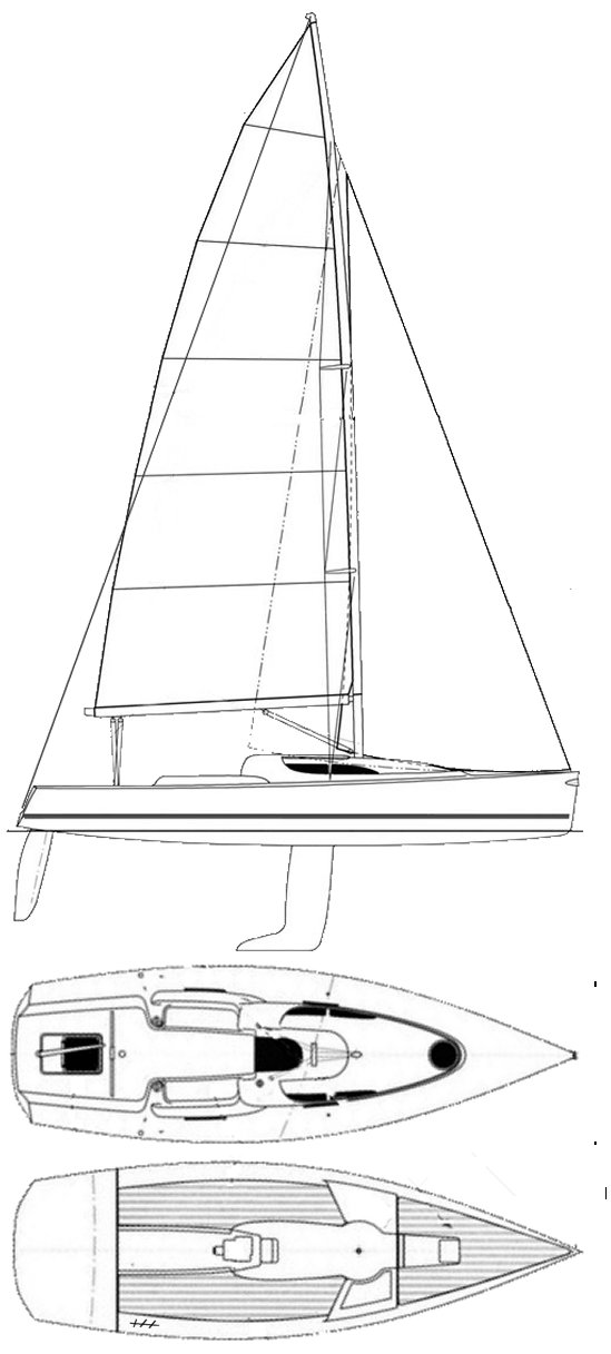 Grand Surprise 31 drawing on sailboatdata.com