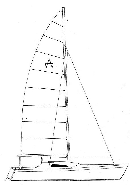 Great Barrier Express drawing on sailboatdata.com