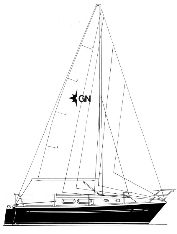 Griffon 26 (Westerly) drawing on sailboatdata.com