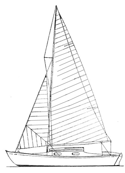 Grondin drawing on sailboatdata.com