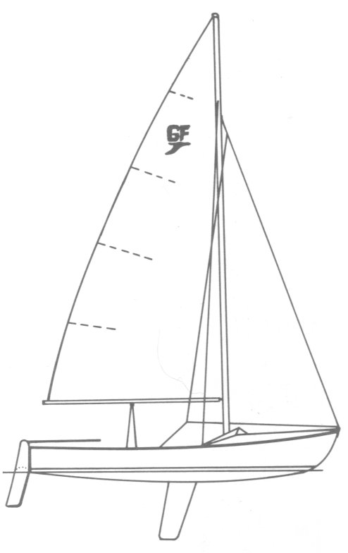Grumman Flyer drawing on sailboatdata.com