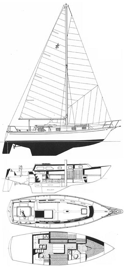 GULFSTAR 37 drawing