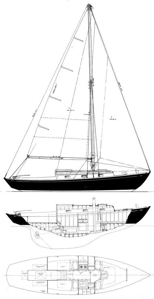 GULFSTREAM 30 (S&S) drawing